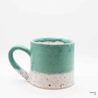 """Чашка. Название """"Изумрудная изморозь"""""""