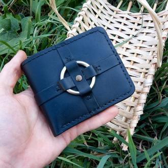 Кожаный портмоне бумажник