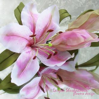 Лилия  «Флоренция». Цветы из ткани