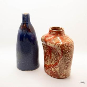 """Две миниатюрные вазы """"Лед и пламень"""""""