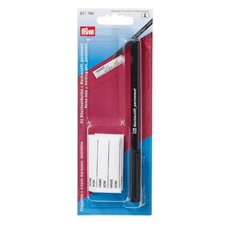 Маркувальний олівець чорного кольору з етикетками для білизни,Prym