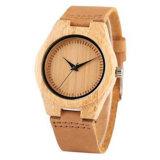 Стильні іменні дерев'яні годинник з гравіюванням Sea sand