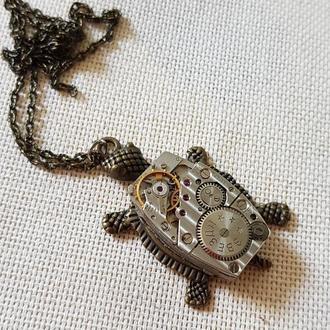 Черепаха кулон в стиле Steampunk Стимпанк