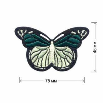 Вышитая нашивка Embroidery БАБОЧКА 75x45 мм. Набор 10 нашивок (47726)