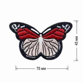 Вышитая нашивка Embroidery БАБОЧКА 75x45 мм Набор 10 нашивок (48370)
