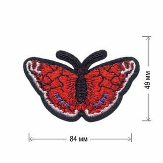 Вышитая нашивка Embroidery БАБОЧКА 84x49 мм Набор 10 нашивок (48469)