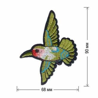 Вышитая нашивка Embroidery КОЛИБРИ 90x68 мм Набор 10 нашивок (49749)