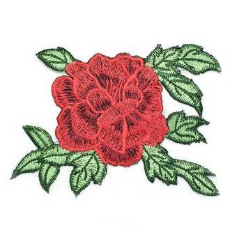 Красная роза один бутон Embroidery 105x80 мм (50704)