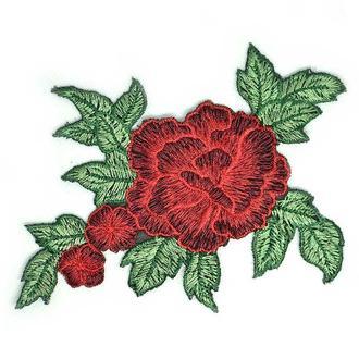 Красная роза три бутона Embroidery 125x105 мм (50705)