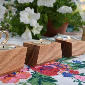 Сет из трех подсвечников на 3 чайные свечи