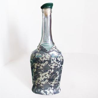 """Декорированная бутылка """"С днем пограничника"""" в подарок мужчине пограничнику"""