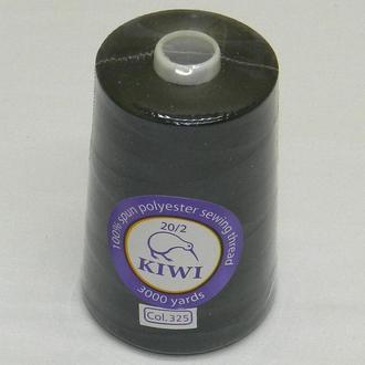 Армированные Kiwi (киви) нитки 20/2 3000 ярдов, черные (339-Kiwi-006)