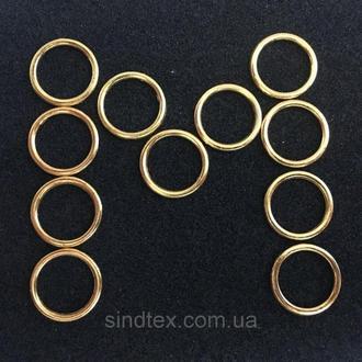 Золотой 1 см регулятор (МЕТАЛЛ) для бретелей бюстгальтера (кольцо) (БФ-0017)