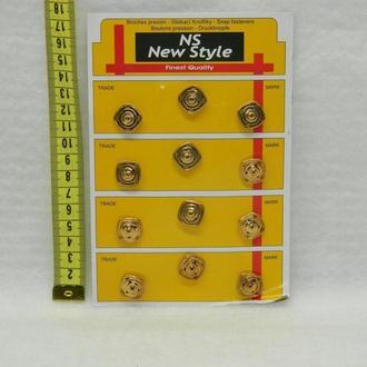 D=15мм кнопки для одежды пришивные (декоративные) золото (653-Т-0256)