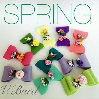 Яркие сочные весенние цветочные бантики