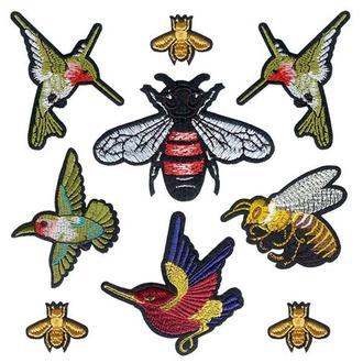 Набор модных нашивок Embroidery Птицы Мухи Пчелы набор №1 (68609)