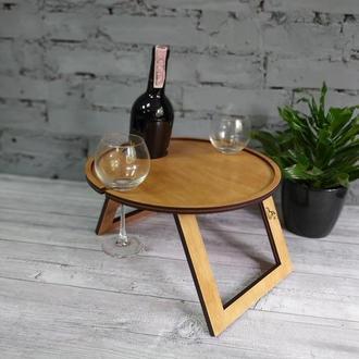 Столик для вина (диаметр 34 см) без гравировки