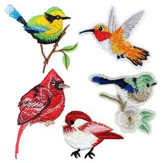 Термоаппликации (нашивки) Embroidery ПТИЦЫ набор №1 (67794)