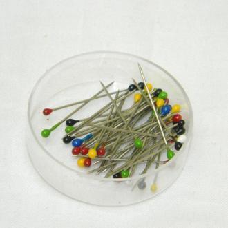 Булавки портновские (гвоздики с шариком) для шитья 25мм (657-Л-0050)
