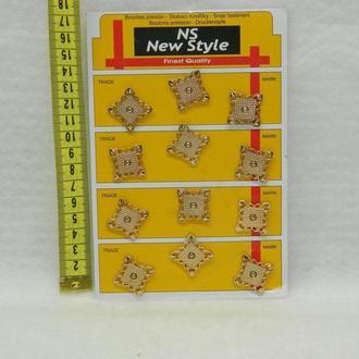 D=20мм кнопки для одежды пришивные (декоративные) золото (653-Т-0254)