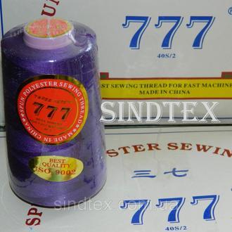 """023 Нитки """"777"""" швейные цветные 40/2 4000ярдов (от 6 бобин) (6-777-023)"""
