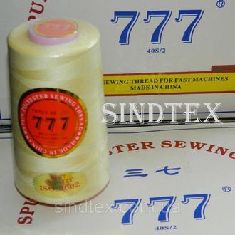 """300 Нитки """"777"""" швейные цветные 40/2 4000ярдов (от 6 бобин) (6-777-300)"""