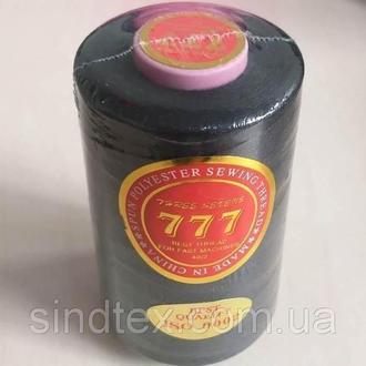 """Черные нитки """"777"""" швейные 40/2 4000ярдов (6-777-черные)"""