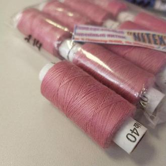 Цвет:214 Нитки в катушках, швейные 100% полиэстер 40/2 (боб 200м) (ВЕЛЛ-003)