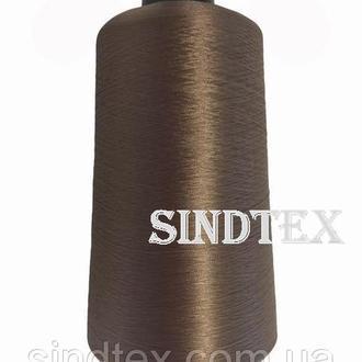Нитка текстурована некруч 100% PE 150D/1 цв S-072 коричневий (боб 15000ярд/60 боб) NITEX, боб (ВЕЛЛ-127)