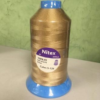 Нить повышенной прочности 100% РЕ 40 цв S-126 (боб 3000ярдов) Nitex (ВЕЛЛ-156)