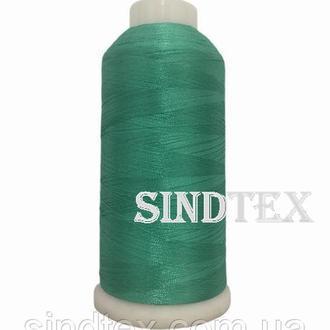 Нить вышивальная 100% РЕ 120/2 цв S-15-5218 (049) бирюзовый яркий (боб 5000ярдов) NITEX, боб (ВЕЛЛ-180)