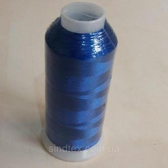 Нить вышивальная 100% РЕ 120/2 цв S-18-4048 синий (боб 5000ярдов) NITEX, боб (ВЕЛЛ-214)