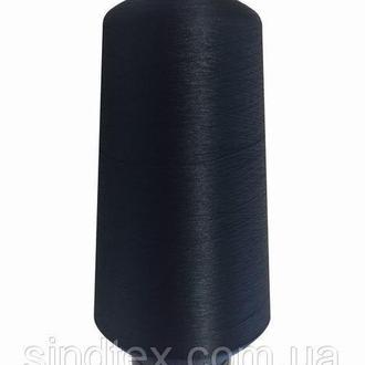 Нить текстурированная некруч 100% PE 150D/1 цв S-196 синий темный (боб 15000ярд/60 боб) NITEX, боб (ВЕЛЛ-232)