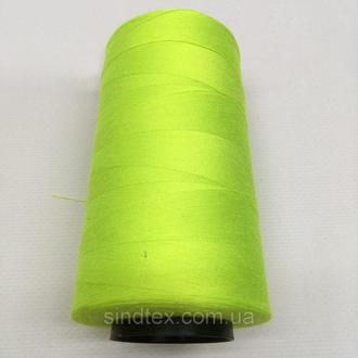 Нитка швацька 100% PE 40/2 кол S-535 зеленый неон (боб 4000ярдов) NITEX (ВЕЛЛS-535)