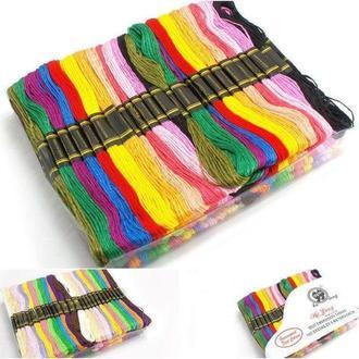 (100шт по 8м) Набор мулине (нитки для вышивания) Цвета - МИКС (657-Л-0599)