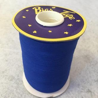 Хлопковая косая бейка,1,5см - 50%полиэстер (100м), цвет 088 электрик (657-Л-0629)