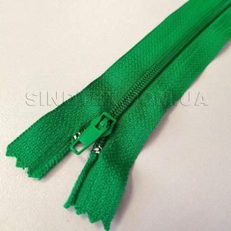 Молния брючная 18 см, зеленая (6-2426-В-168)
