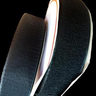 Липучка швейная пришивная 5 см Черная 22,5 м. (СИНДТЕКС-0045)