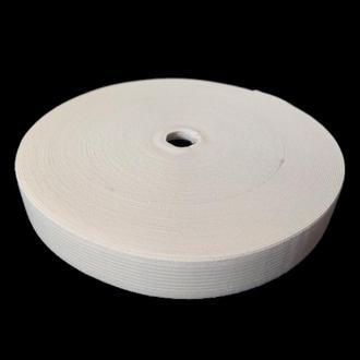 Широкая бельевая резинка для одежды белая 2 см х 22,5 (СИНДТЕКС-0053)