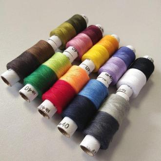Набор ниток NITEX 40/2 100% полиэстер 180м (уп 10шт на 20 цветов) (ВЕЛЛ-555)