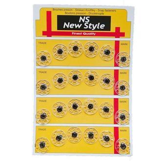 D=18мм пришивные застежки-кнопки для одежды New Style 24шт стеклянные (653-Т-0272)