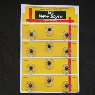 D=21мм пришивные застежки-кнопки для одежды New Style 12шт стеклянные (653-Т-0073)
