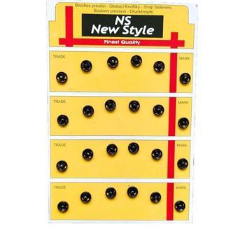 D=7,5мм пришивные застежки-кнопки для одежды New Style 24шт металлические цвет черный (653-Т-0521)