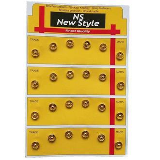D=8,5мм пришивные застежки-кнопки для одежды New Style 24шт металлические цвет золотой (653-Т-0113)
