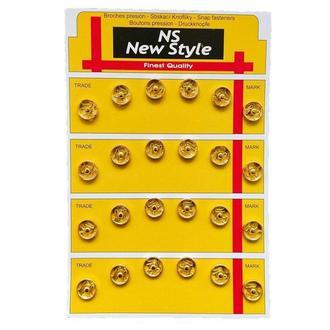 D=10мм пришивные застежки-кнопки для одежды New Style 24шт металлические цвет золотой (653-Т-0118)
