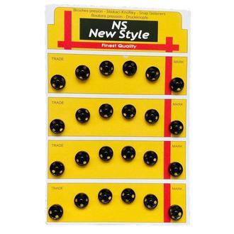 D=10мм пришивные застежки-кнопки для одежды New Style 24шт металлические цвет черный (653-Т-0039)
