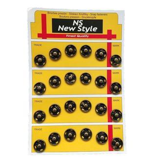 D=15мм пришивные застежки-кнопки для одежды New Style 24шт металлические цвет антик (653-Т-0060)