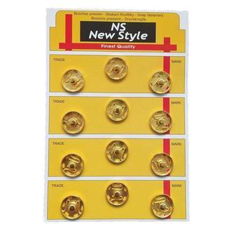 D=19мм пришивные застежки-кнопки для одежды New Style 12шт металлические цвет золотой (653-Т-0048)