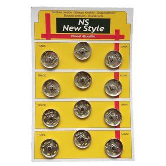 D=21мм пришивные застежки-кнопки для одежды New Style 12шт металлические цвет серый (653-Т-0273)
