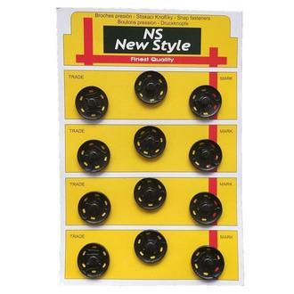 D=21мм пришивные застежки-кнопки для одежды New Style 12шт металлические цвет черный (653-Т-0275)